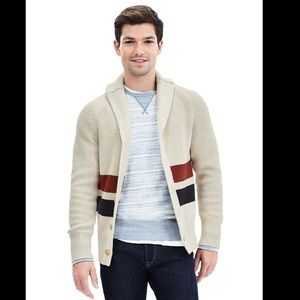 Banana Republic Stripe Shawl Cardigan